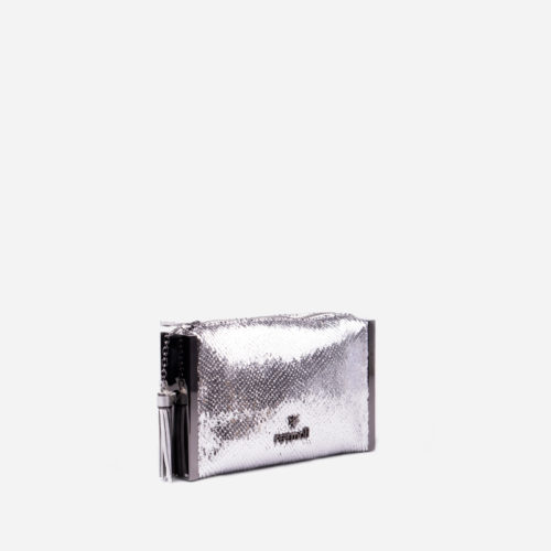 bolso de mano plata 59033