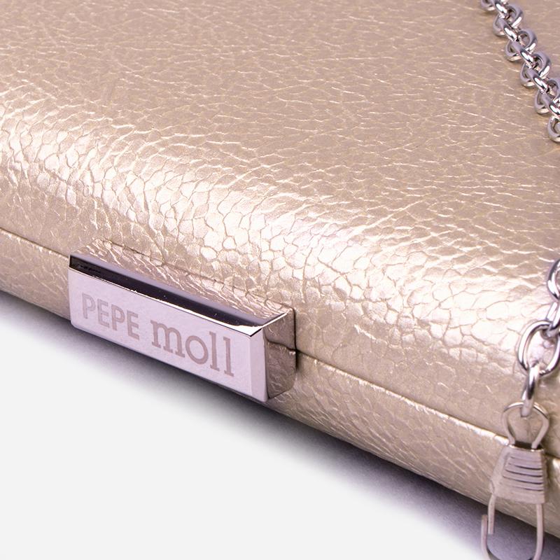 bolso de mano dorado 59038