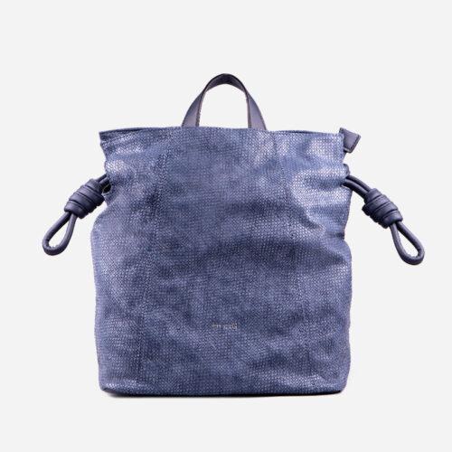 bolso mochila trenza azul 25116