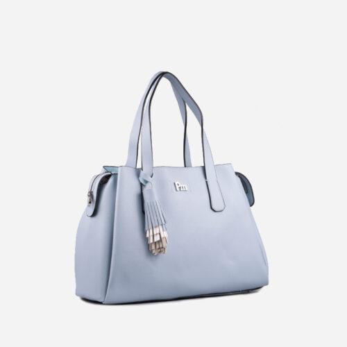 bolso de hombro azul 26115