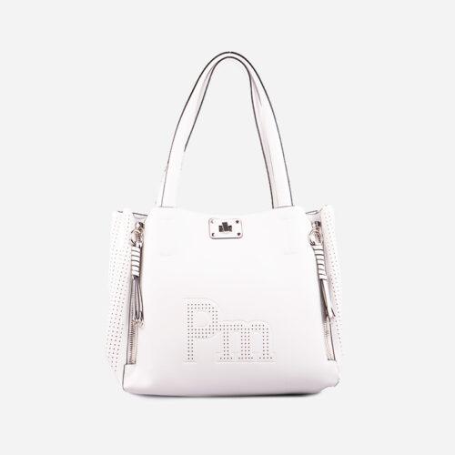 bolso de hombro blanco 22115