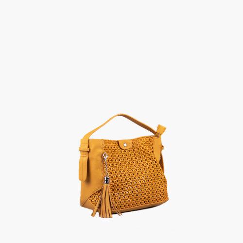 bolso de mano amarillo 41117