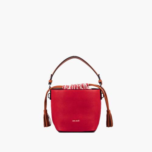 bolso de hombro rojo 51140