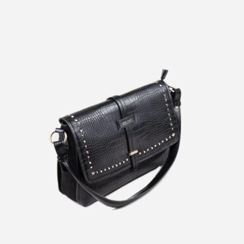 bolso de hombro negro 22118