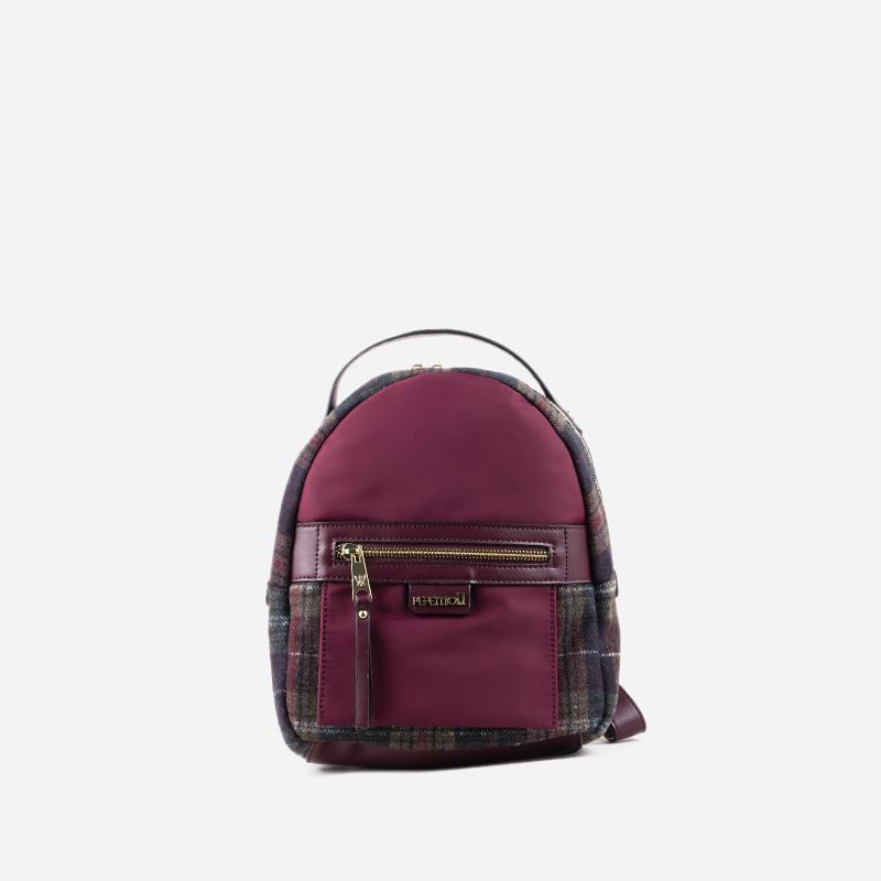bolso mochila estampado bordo 15118
