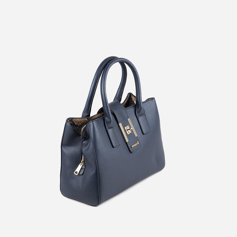 bolso de mano azul 24115