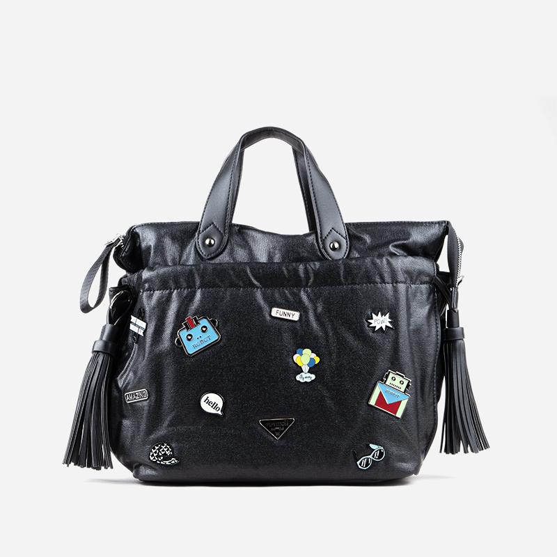bolso de mano negro 28125