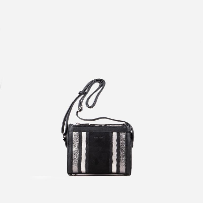 bolso bandolera bicolor estampado 45116