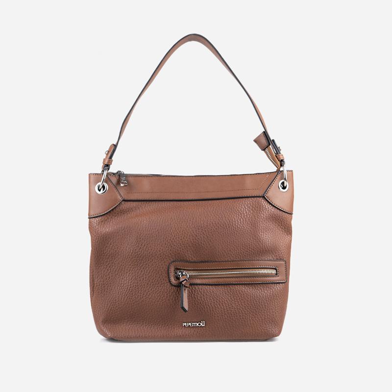 bolso de hombro marrón 44118