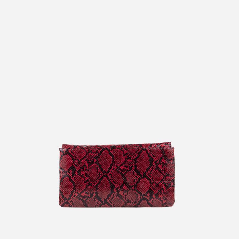 bolso de serpiente rojo 56040