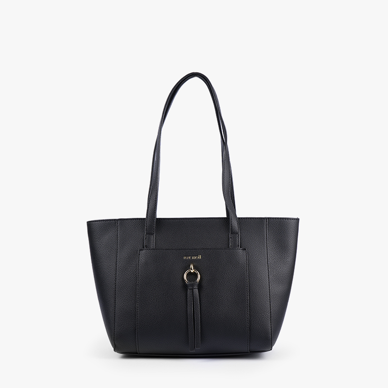 BOLSO SHOPPER NEGRO 31123-frontal