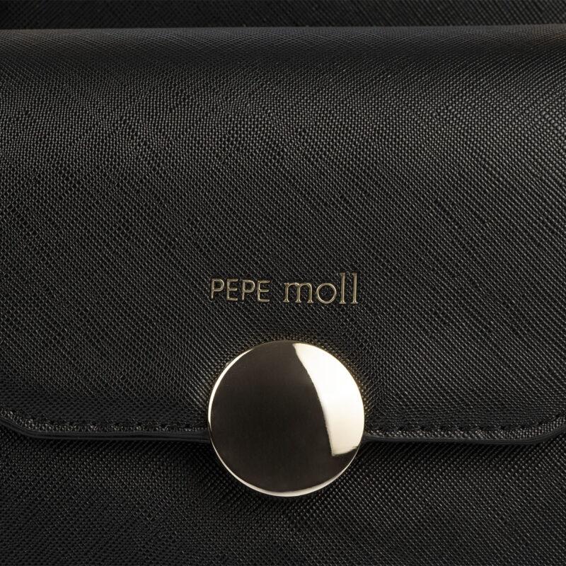 bolso de mano negro pepemoll 14126 detalle