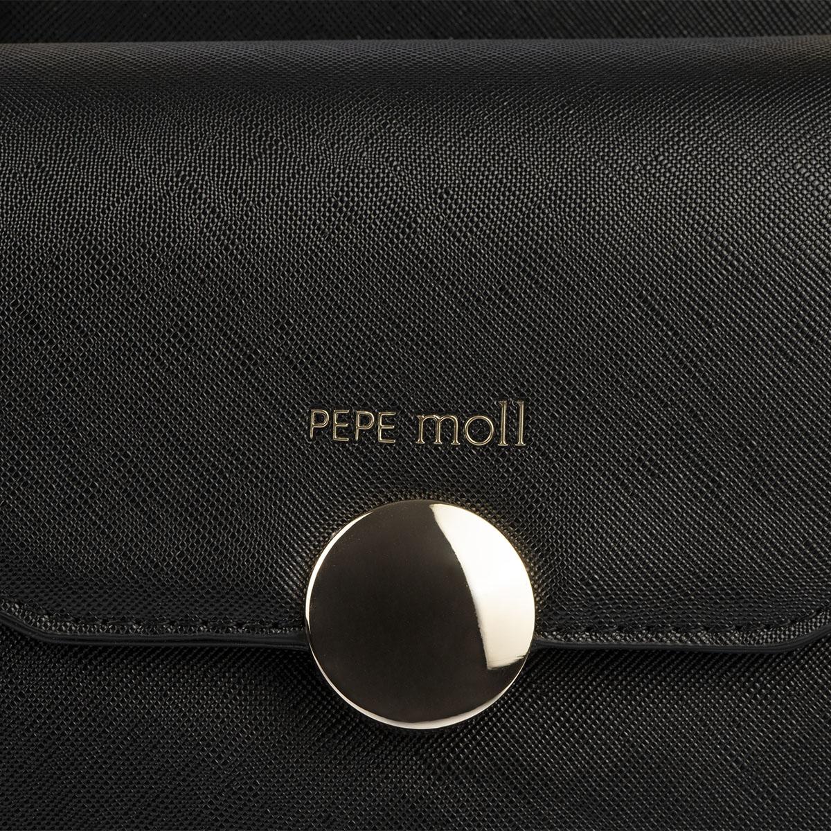 bolso de mano negro pepemoll 14126