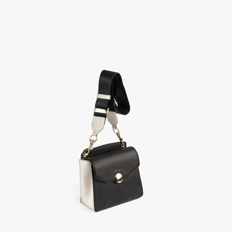 bolso bandolera negro pepemoll 14126 perfil