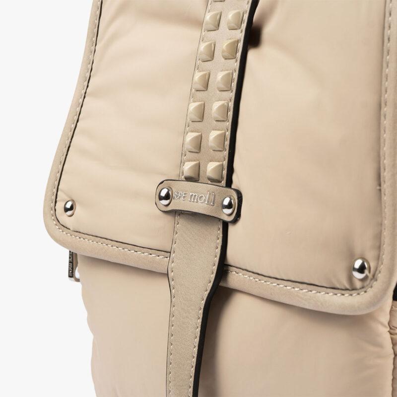 20125 bolso mochila beige detalle