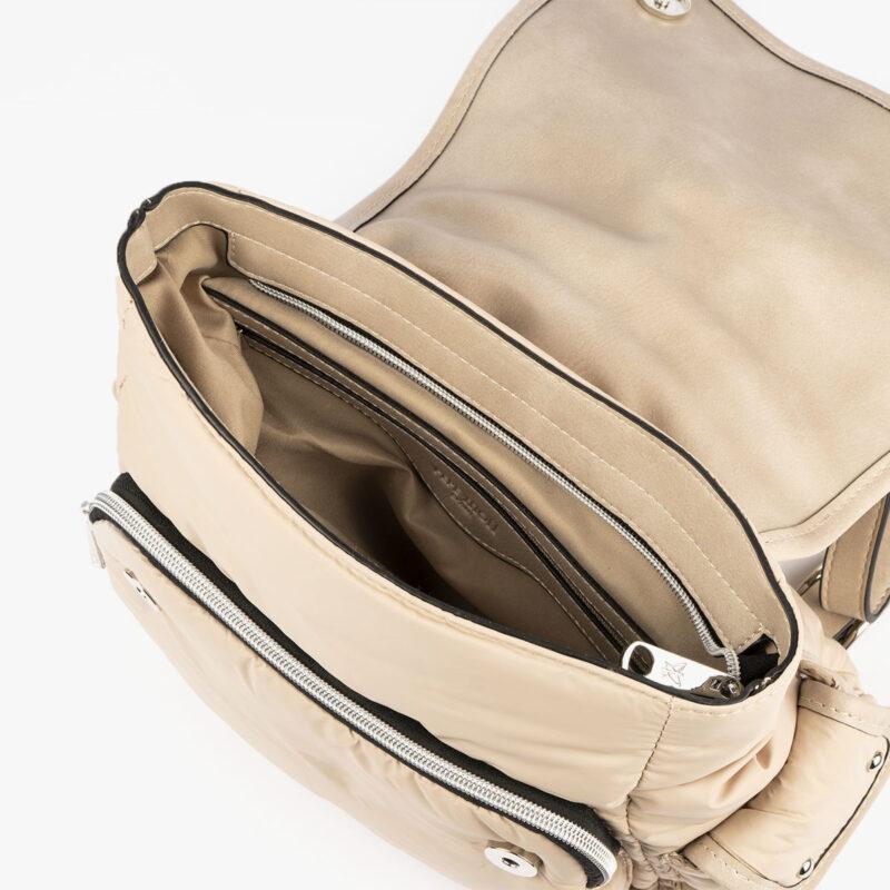 20125 bolso mochila beige interior