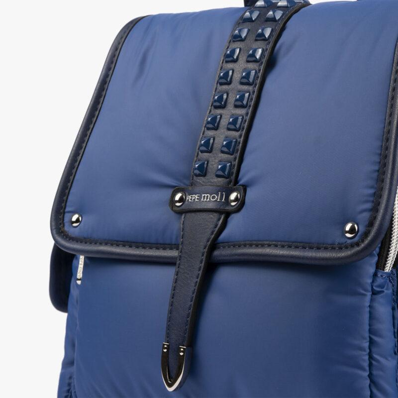 20125 bolso mochila azul detalle