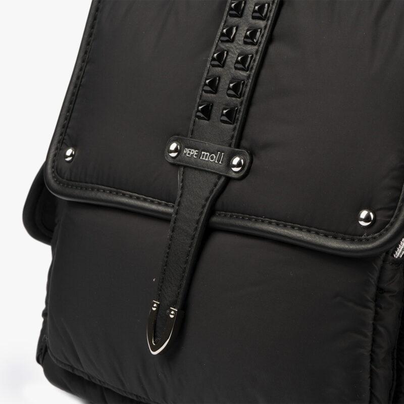 20125 bolso mochila negro pepemoll detalle