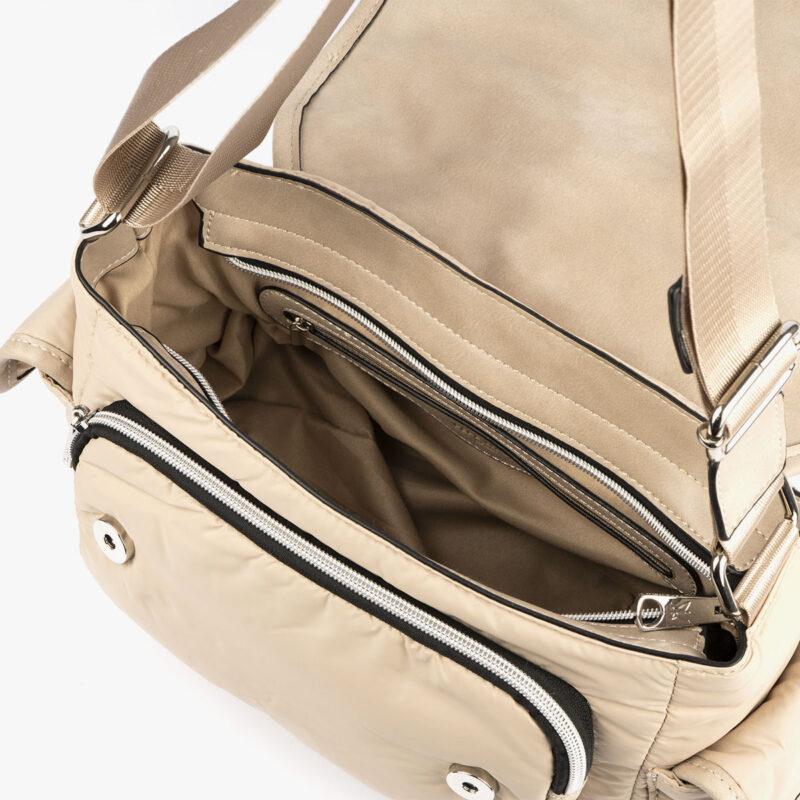 20126 bolso mochila beige pepemoll interior