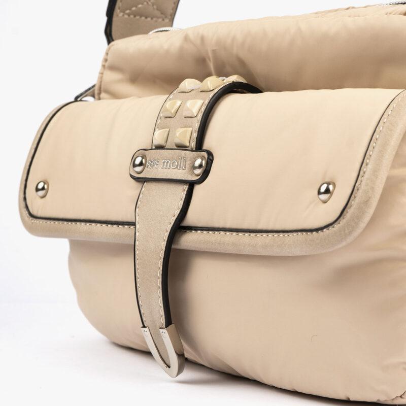 20127 bolso bandolera beige detalle