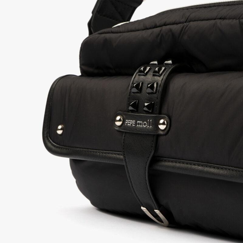 20127 bolso bandolera negro detalle