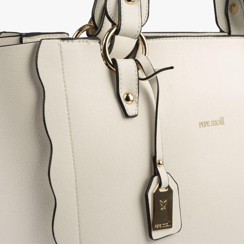 bolso de hombro blanco 22120 detalle