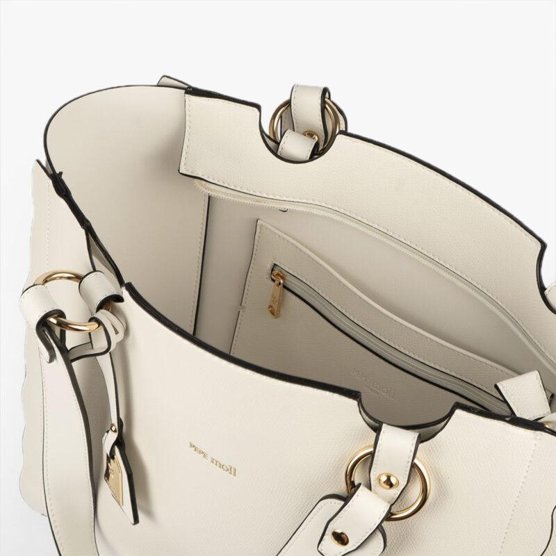 bolso de hombro blanco 22120 interior