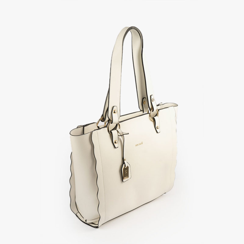 bolso de hombro blanco 22120 perfil