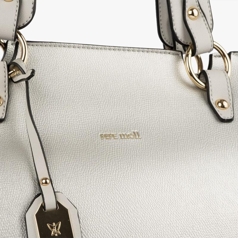 bolso de hombro plata 22120 detalle