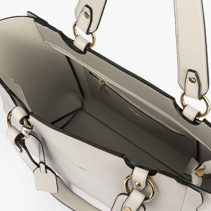 bolso de hombro plata 22120 interior