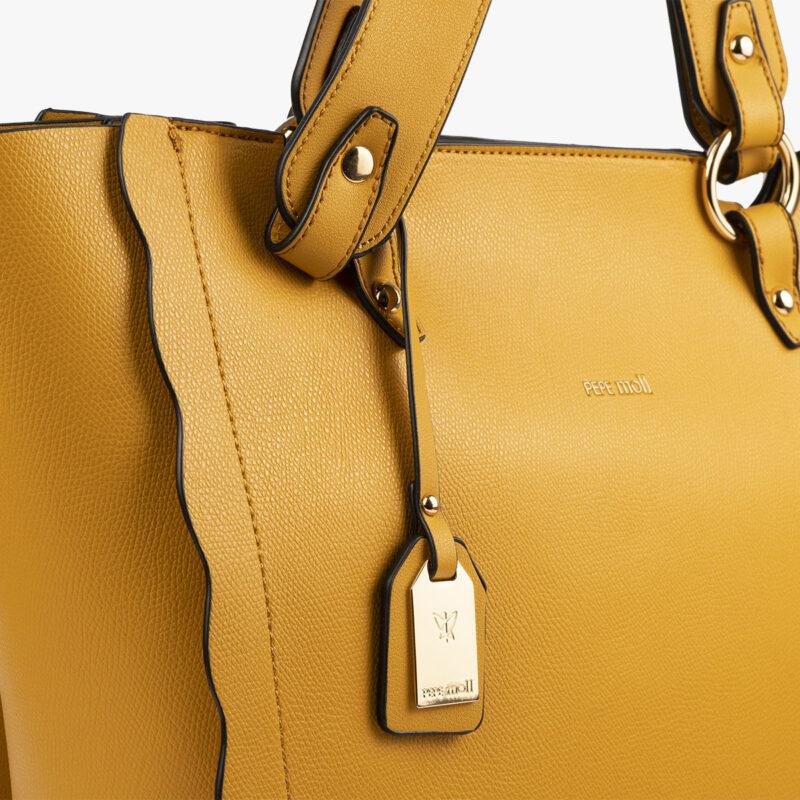 bolso de hombro amarillo 22120 detalle