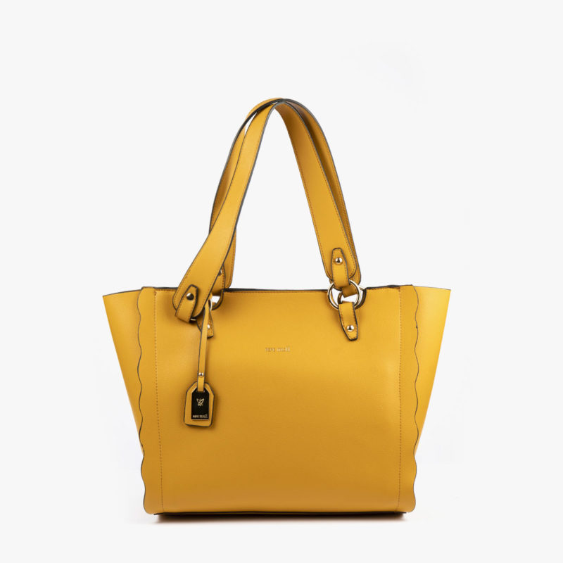 bolso de hombro amarillo 22120 frontal