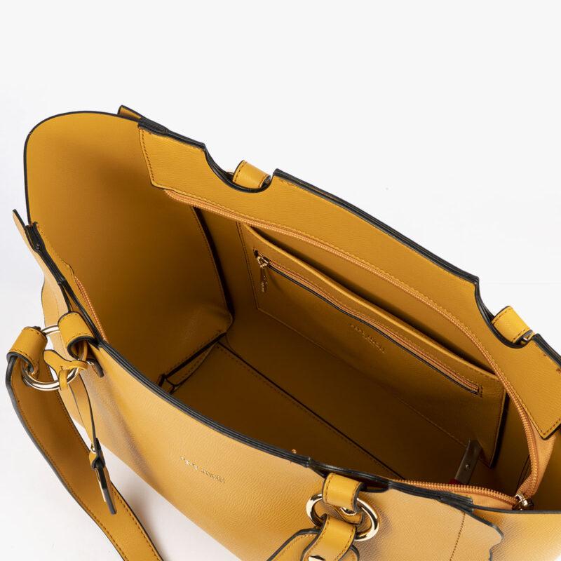 bolso de hombro amarillo 22120 interior