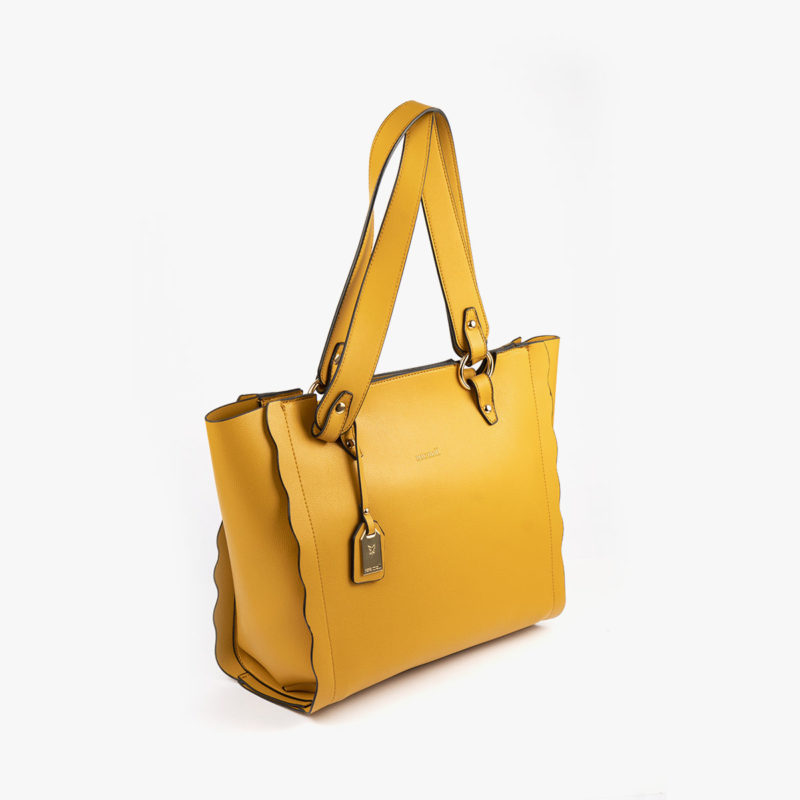 bolso de hombro amarillo 22120 perfil