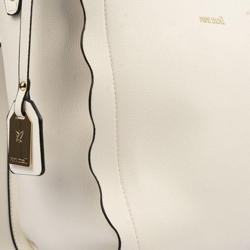 bolso de hombro blanco pepemoll 22120 detalle