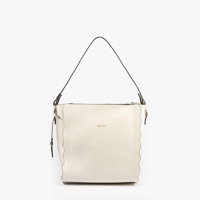 bolso de hombro blanco pepemoll 22120