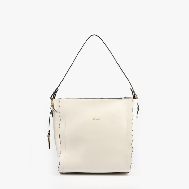bolso de hombro blanco pepemoll 22120  frontal