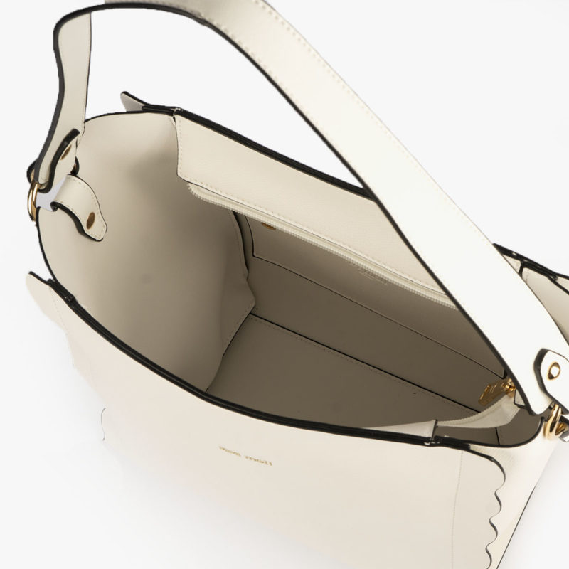 bolso de hombro blanco pepemoll 22120  interior