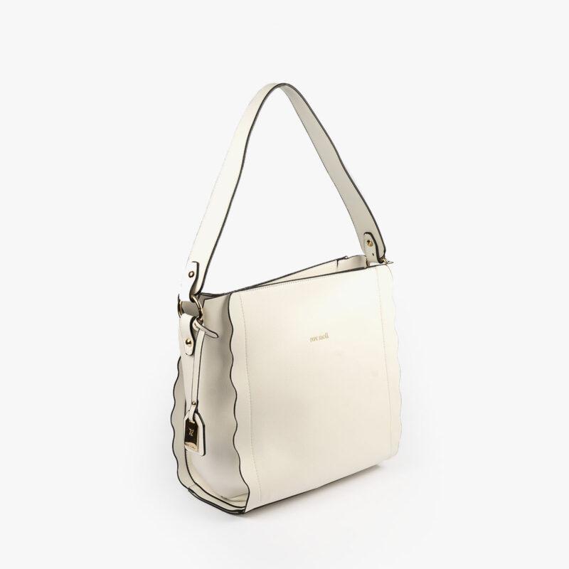 bolso de hombro blanco pepemoll 22121 perfil