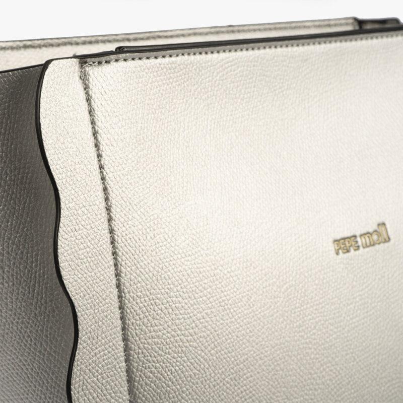 bolso de hombro plata pepemoll 22121 detalle