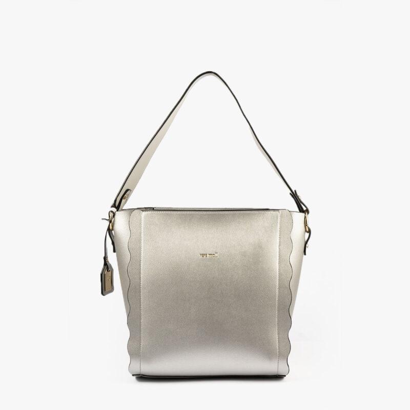 bolso de hombro plata pepemoll 22121 frontal
