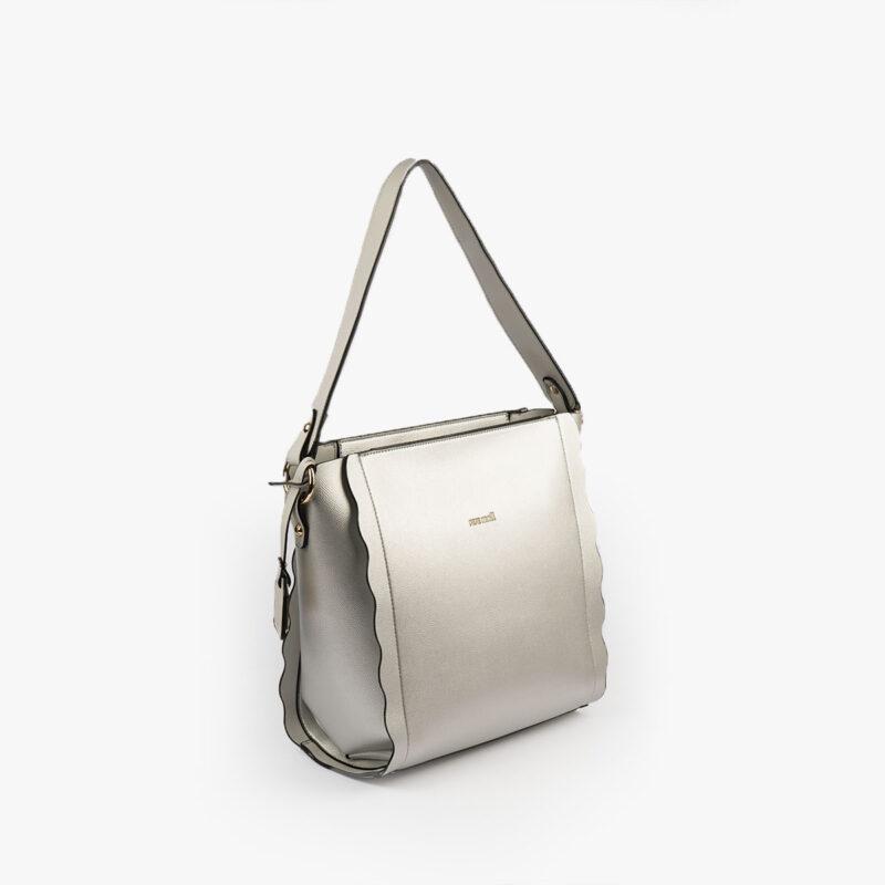 bolso de hombro plata pepemoll 22121 perfil