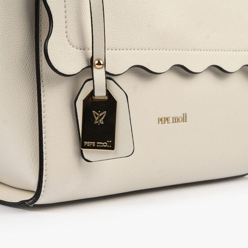 bolso de mano blanco 22122 detalle