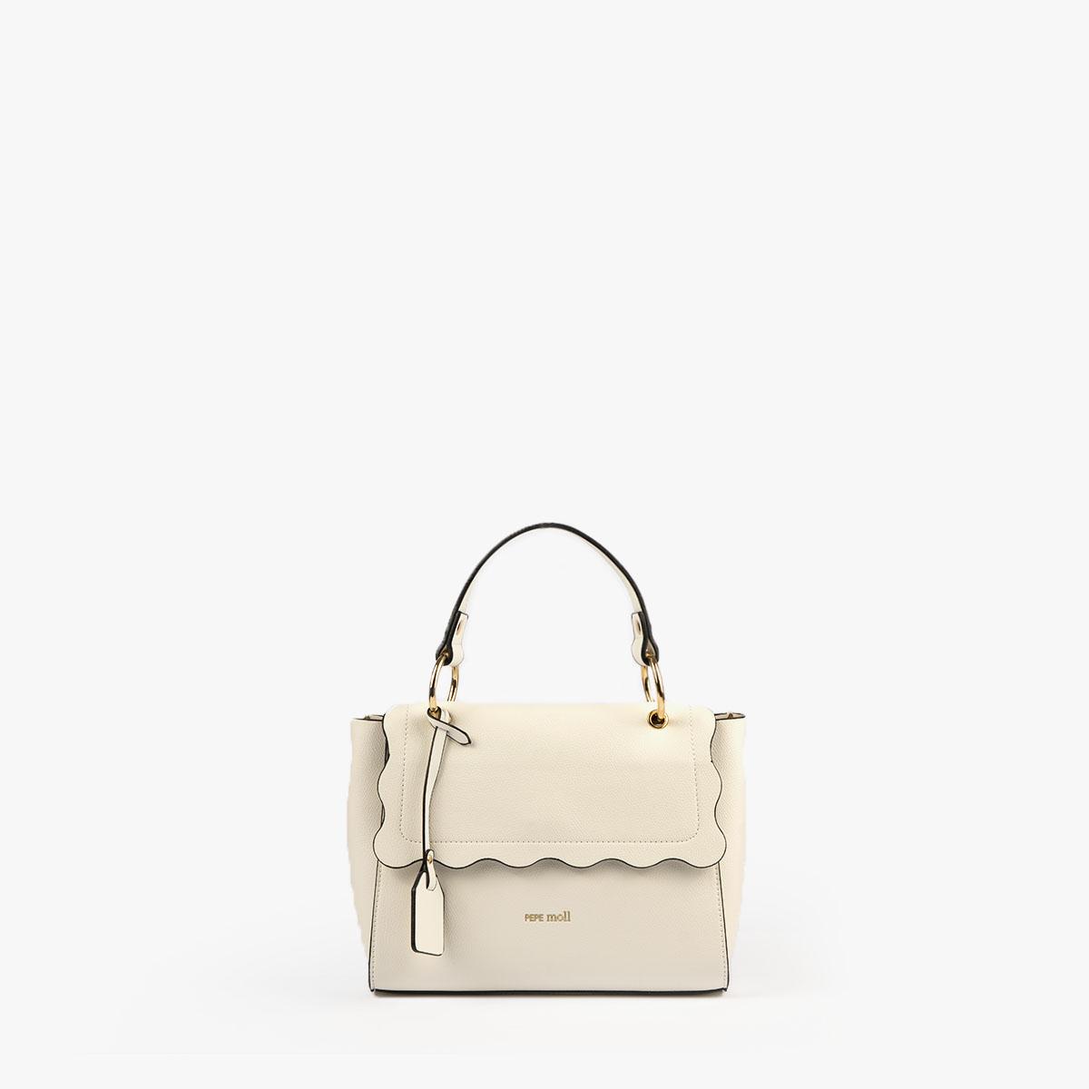 bolso de mano blanco 22122