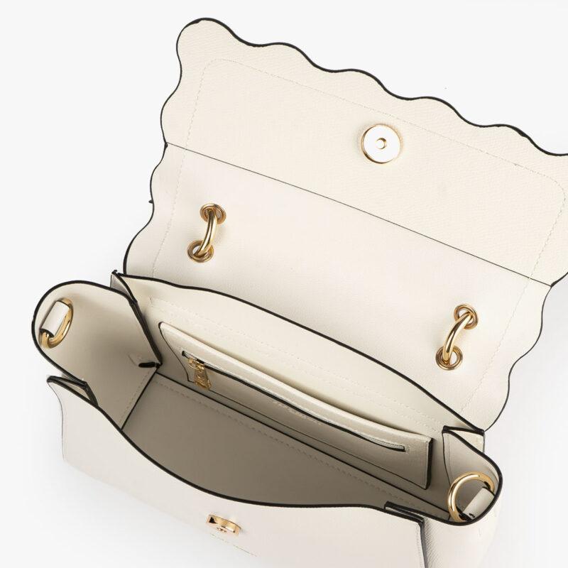 bolso de mano blanco 22122 interior