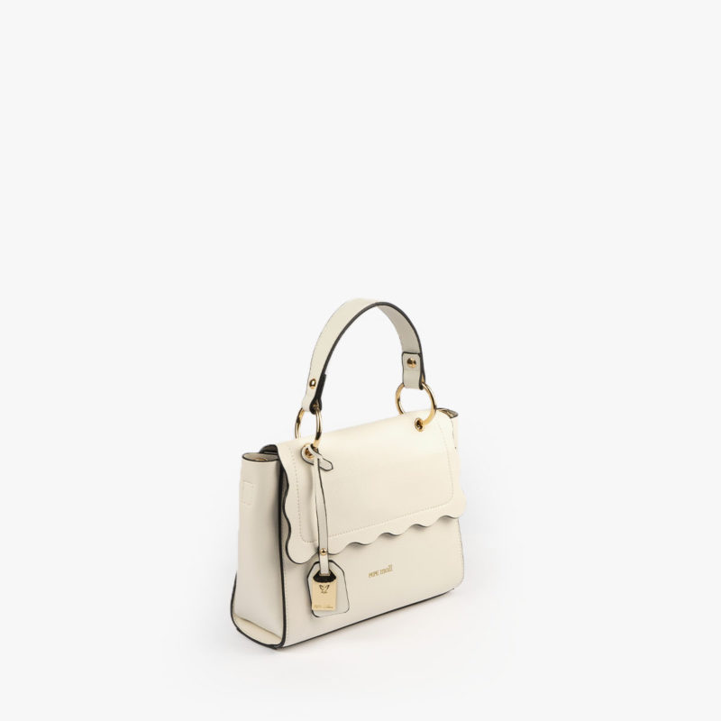 bolso de mano blanco 22122 perfil
