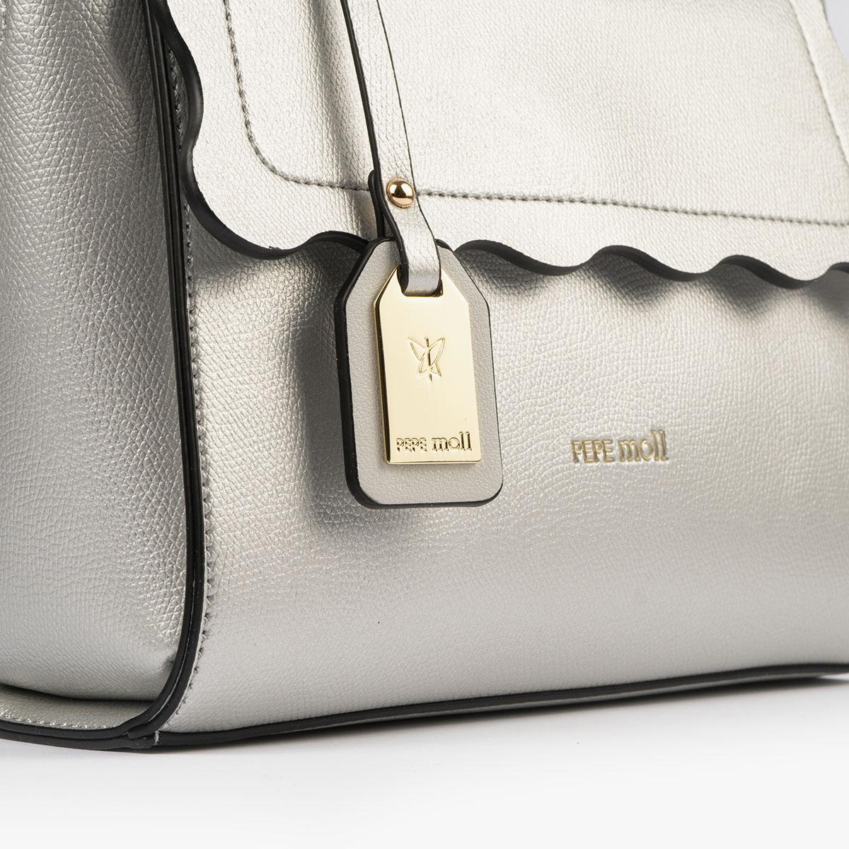 bolso de mano plata 22122 detalle