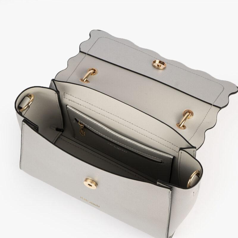 bolso de mano plata 22122 interior