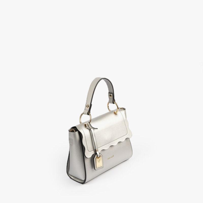 bolso de mano plata 22122 perfil