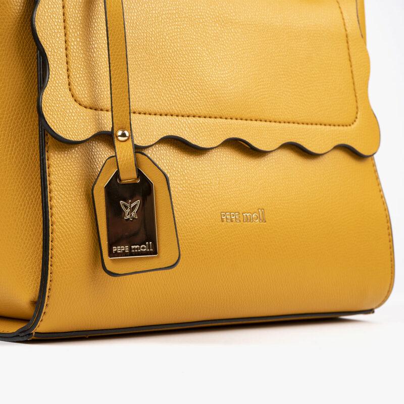 bolso de mano amarillo 22122 detalle